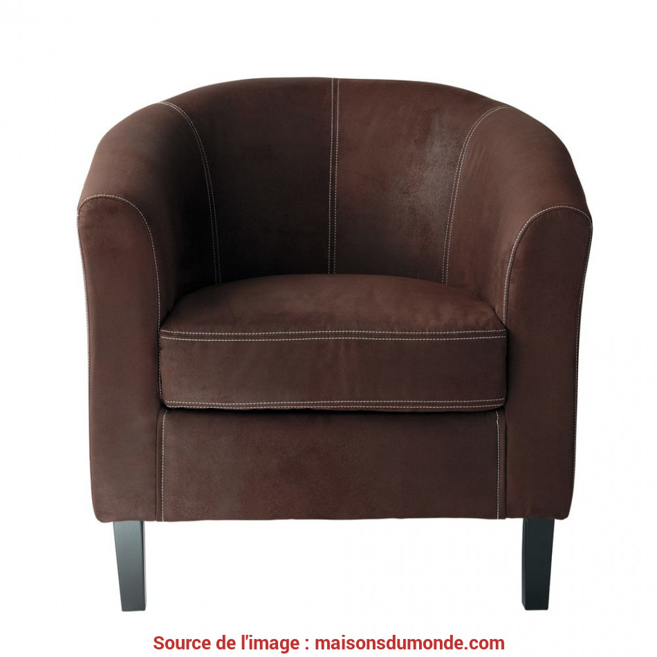 Ideale Microsuede Armchair In Brown Baltimore