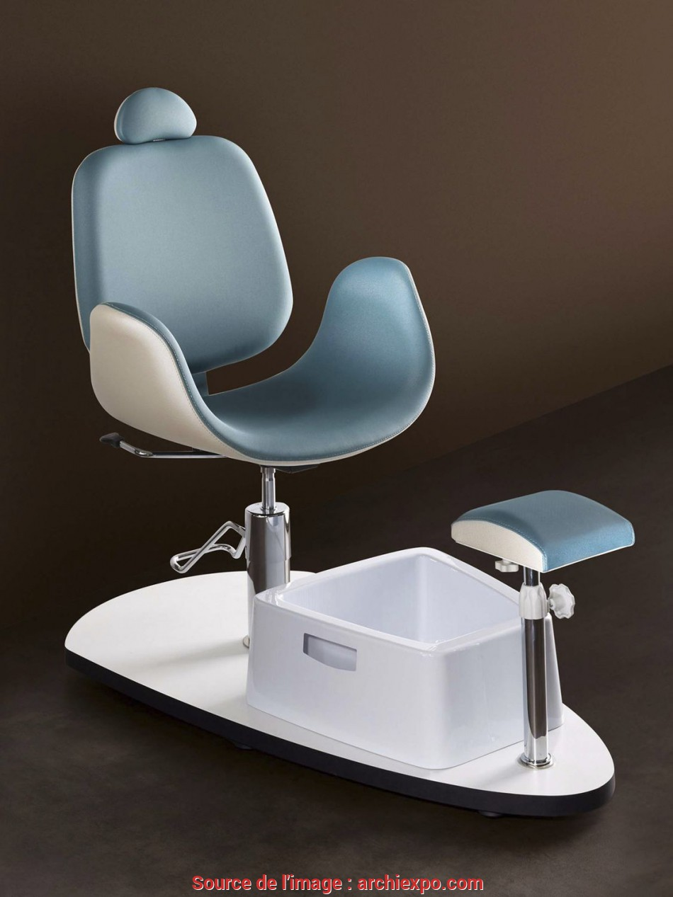 Esotico Synthetic Leather Pedicure Chair / With Hydraulic Pump / With Footrest / White
