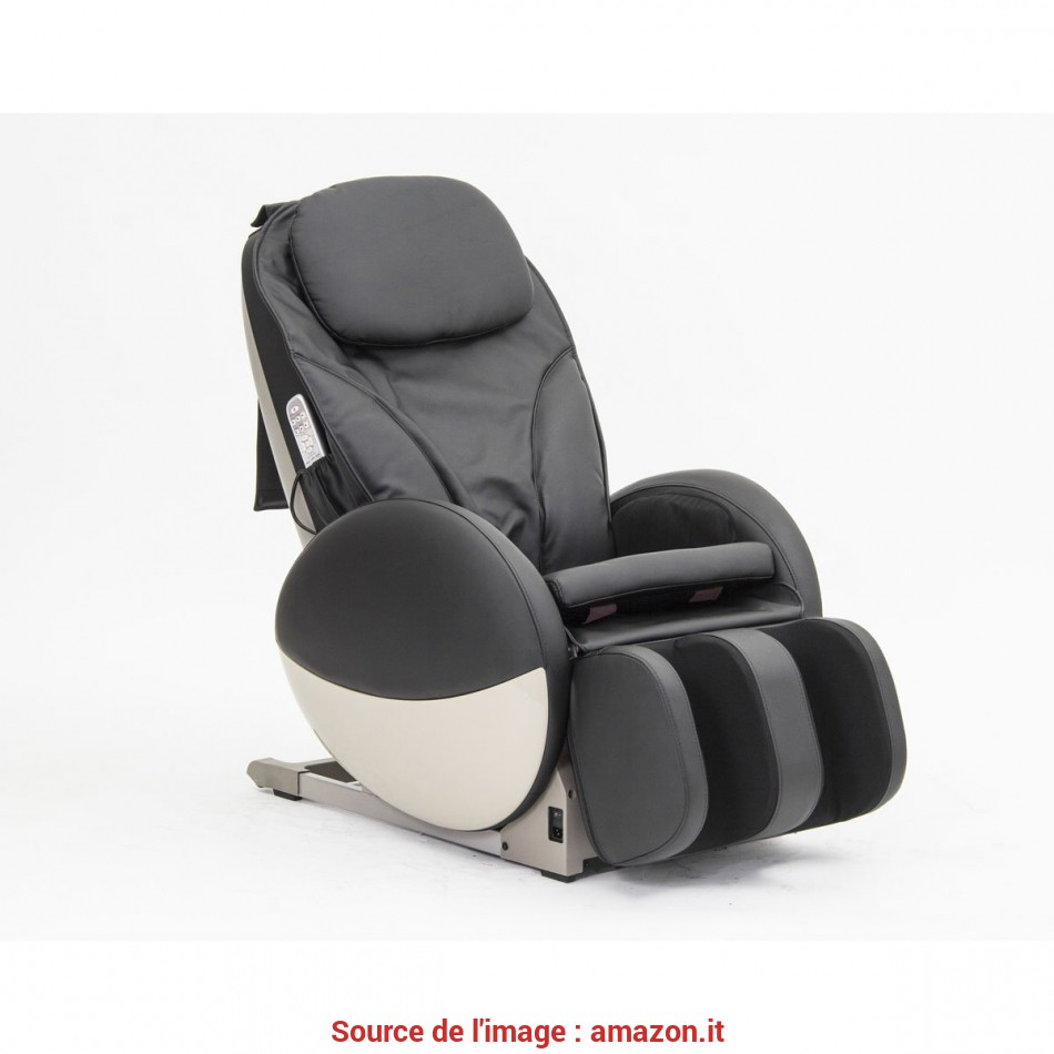 Superiore Poltrona Massaggiante Professionale Energy Shiatsu In Ecopelle Nera: Amazon.It: Salute E Cura Della Persona