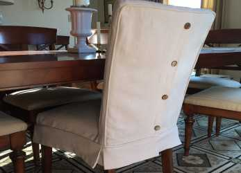 Freddo Dropcloth Slipcovers, Leather Parsons Chairs, Slipcovers In