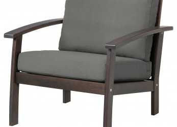 I Più Nuovi KLÖVEN Armchair, Outdoor, Brown Stained, Frösön/Duvholmen Dark Gray