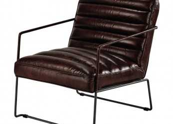Fantastico Leather Armchair In Brown Pearl