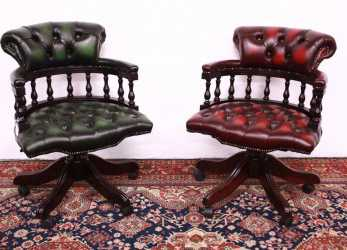 Trending Chair Chair Captain Chester / Chesterfield In Original English