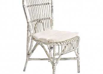 Magnifico Sedia Rattan Bianco Shabby Chic, Mobil Shabby Chic Etnico Outlet