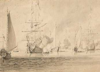 Migliore Willem, De Velde, Younger, Sailing Boats At Anchor, Auction 1049, Masters
