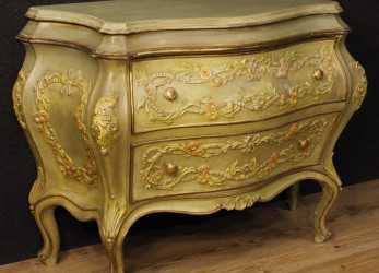 Nuovo Details About Dresser Commode Lacquered Venetian Furniture Golden Wood Antique Style 900